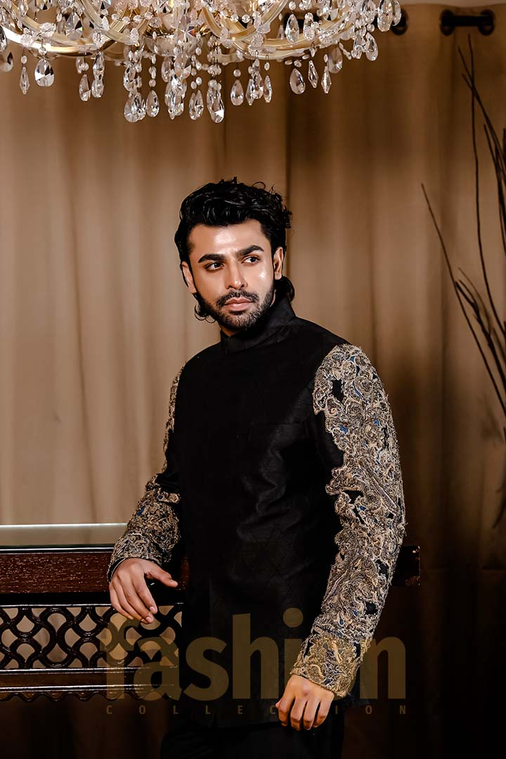 Fashion_Collection_Iman Aly and Farhan Saeed For Tich Button solo 2 black dress