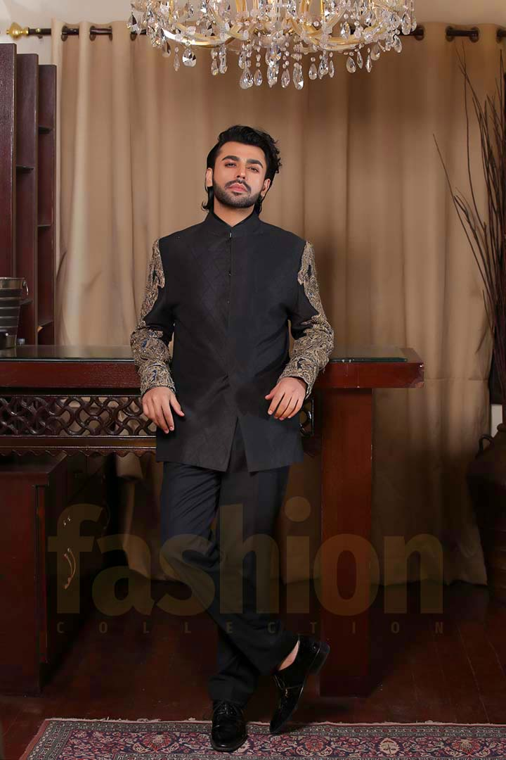 Fashion_Collection_Iman Aly and Farhan Saeed For Tich Button solo black dress
