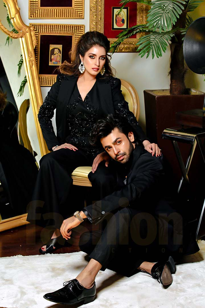 Fashion_Collection_Iman_Aly_and Farhan Saeed For Tich Button Black Dress