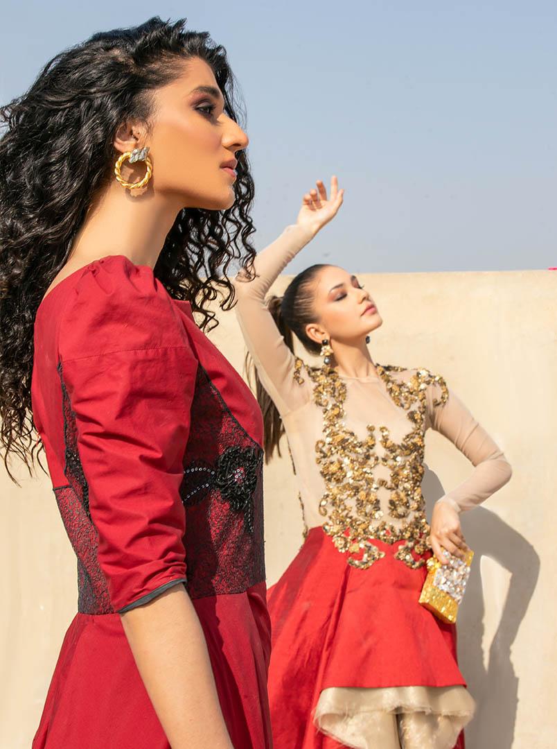 Model Shoot of Rehma Zaman & Areeba Tariq for Fashion_Collection_Glam_Up