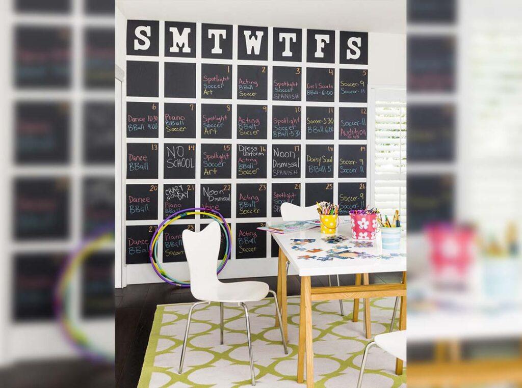 Chalk Wall Calendar