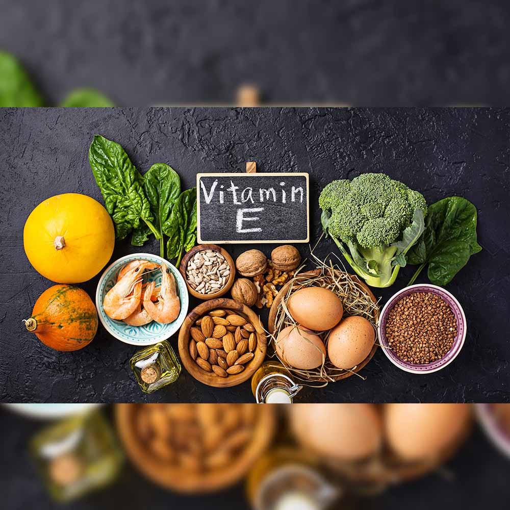 Vitamin E eliminates any free radicals