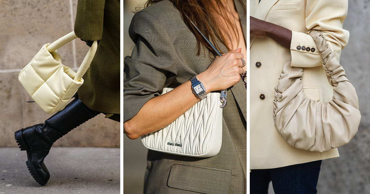 PUFFY, QUILTED AND TEXTURED HANDBAGS